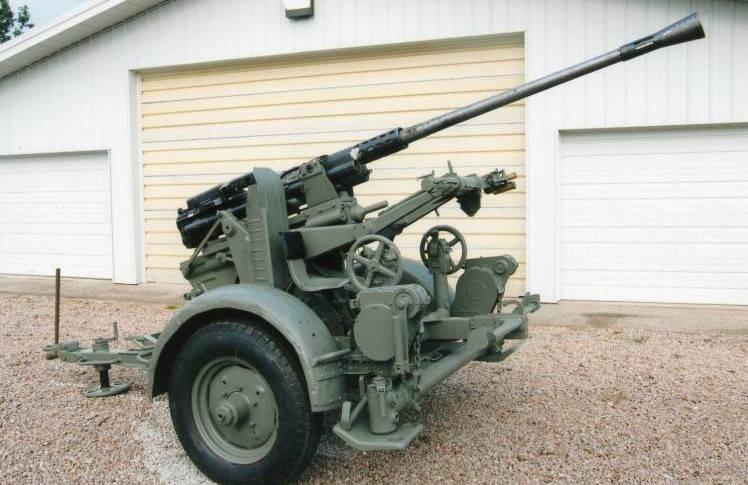 Uso di cannoni antiaerei tedeschi catturati da 30 e 37 mm