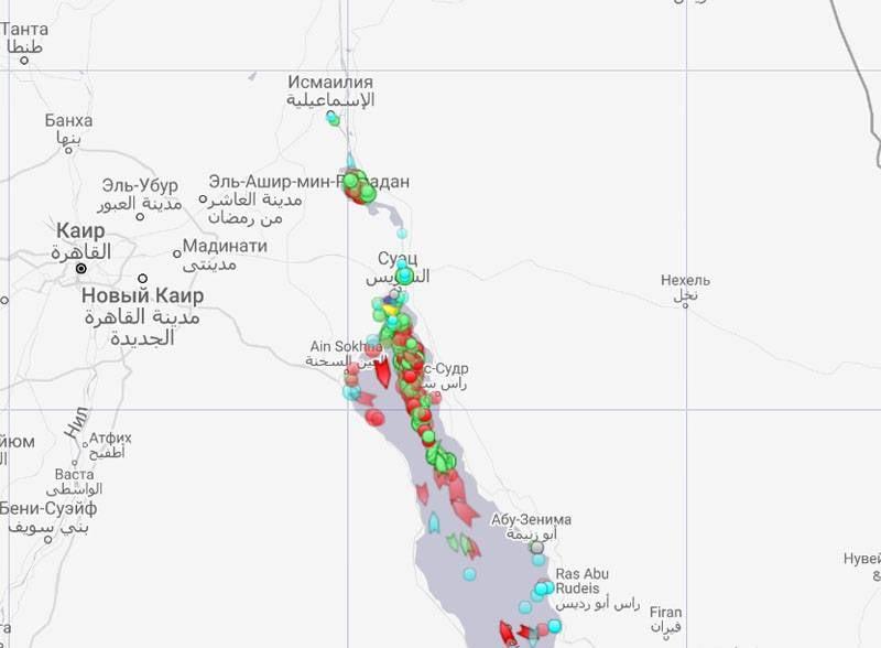 La marina americana ha dovuto affrontare problemi di pattuglia a causa del canale di Suez bloccato