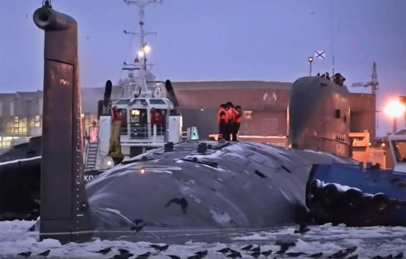 """Sottomarino denominato, che sarà il primo vettore seriale di missili ipersonici """"Zircon"""""""