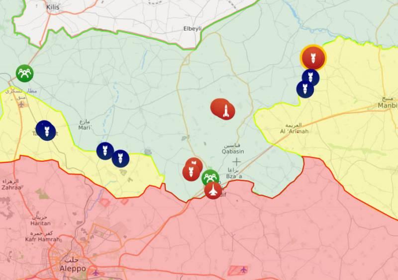 Сирийската армия нанася  удари по територии, контролирани от турски войски