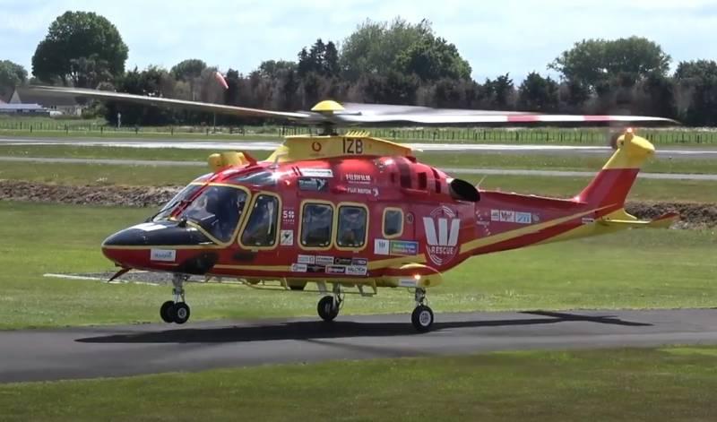 Так и не взлетел: выложено видео аварии новенького итальянского вертолёта Leonardo AW169