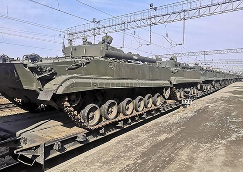 BMP-2を交換するには:新しいBMP-3の大規模なバッチが太平洋艦隊海兵隊に就役しました