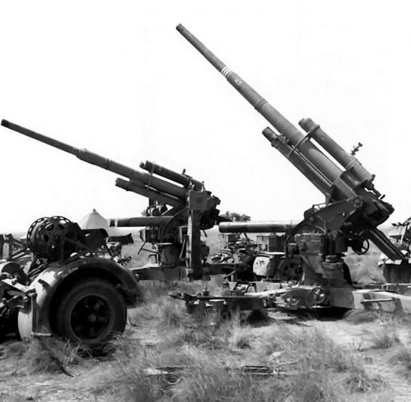 L'uso di cannoni antiaerei tedeschi da 88 mm catturati