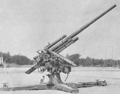 Использование трофейных немецких 88-мм зенитных орудий
