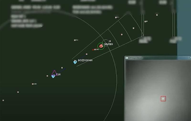 Die türkische Luftwaffe zeigte Aufnahmen der Zerstörung von Drohnen mit ihrer neuesten Bozdoan-Rakete