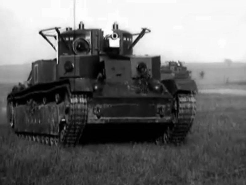 Chars soviétiques de la période d'avant-guerre et de la Grande Guerre patriotique: T-28 à trois tourelles