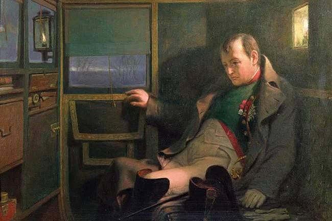 Napoleone nella sua carrozza