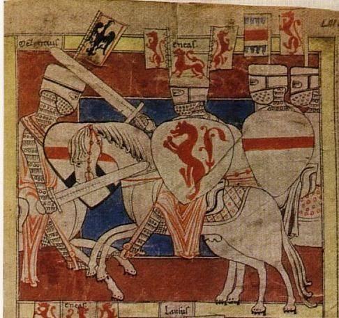 Espadas de E. Oakeshott sobre miniaturas medievales