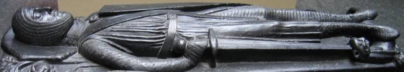 Swords on sculptured headstones