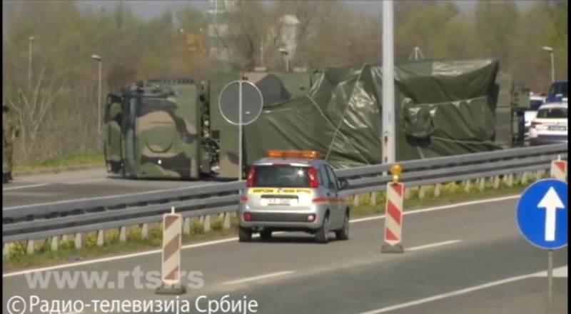 """Подробности от преобръщането на """"Панцир-С1"""" на околовръстното на Белград"""