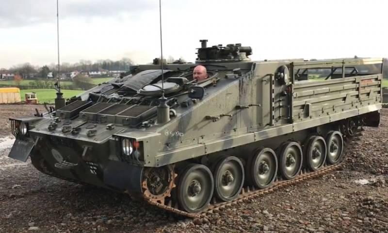 В Британии сообщили об опрокидывании бронемашины во время манёвров близ Солсбери