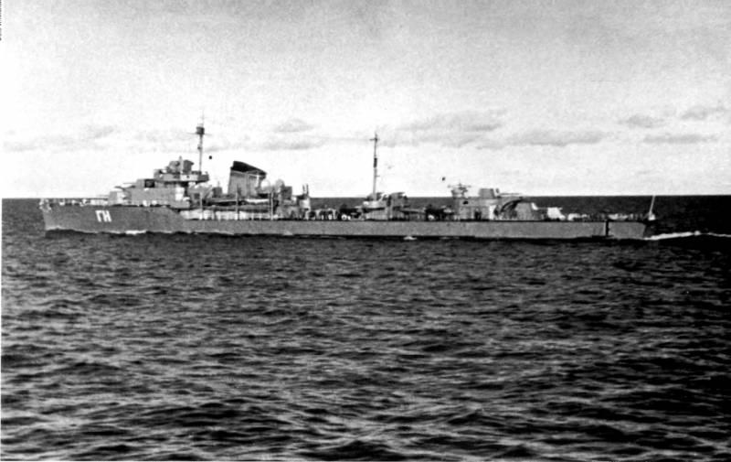 Гибель эсминца «Гневный»