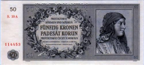 50 CZK Bohemia y Moravia