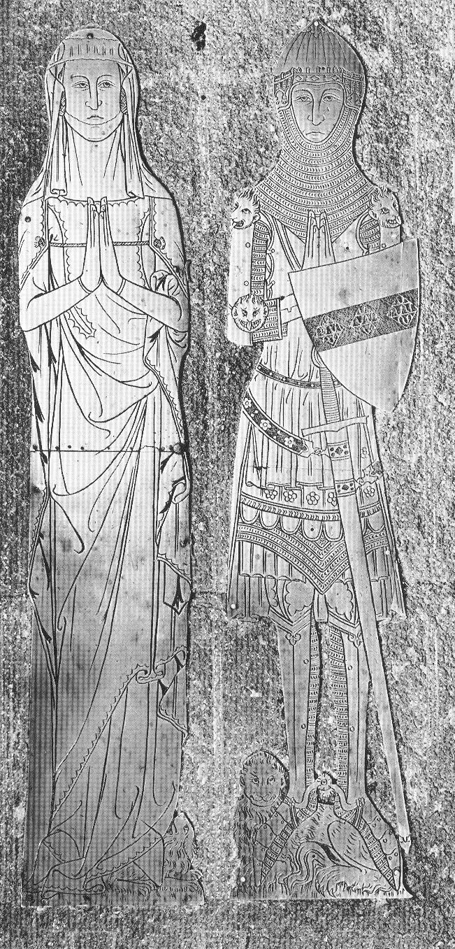 Lápidas de caballeros y ... espadas.