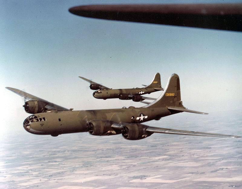 लंबी दूरी के अमेरिकी बी -29 बमवर्षकों के खिलाफ एकल इंजन वाले जापानी लड़ाकू
