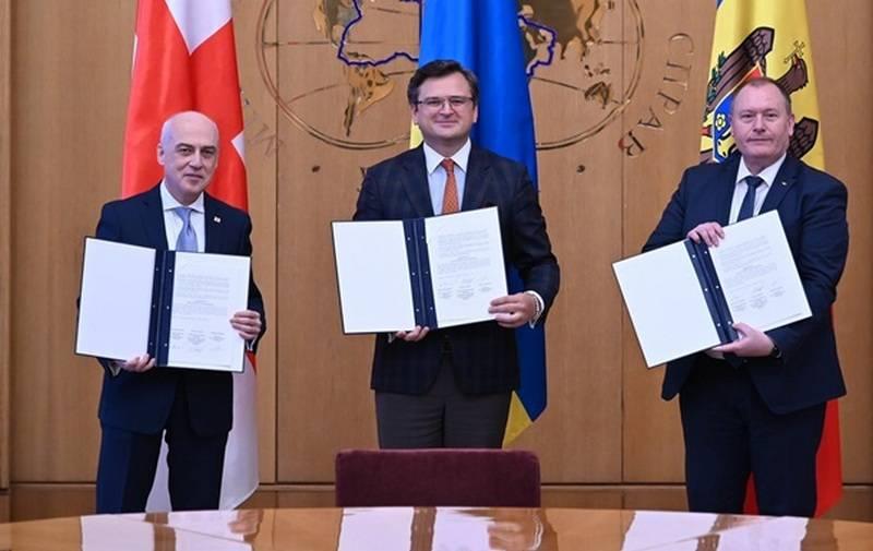 """""""Trio associado"""": Ucrânia, Geórgia e Moldávia concordaram em trabalhar juntos para ingressar na UE"""