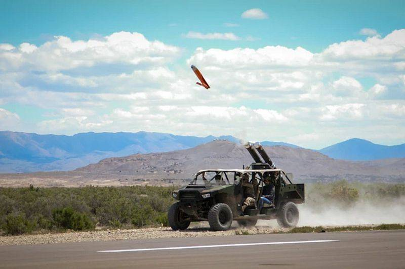 UAVs with wheels. In the USA, they are practicing the launch of UAVs from cars