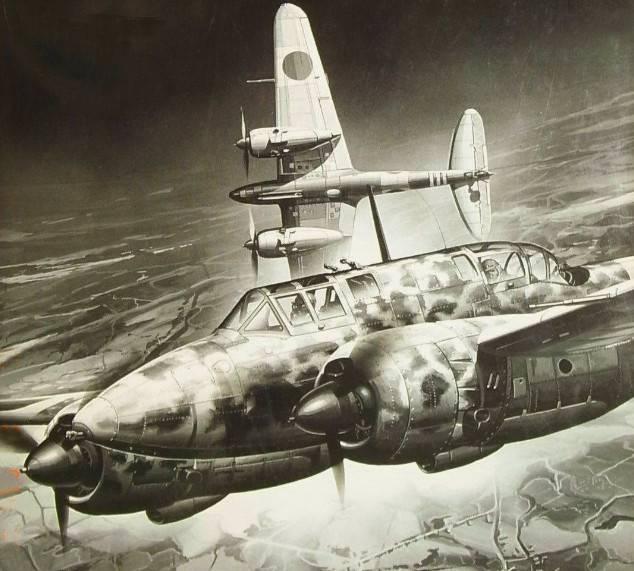 Caças pesados bimotores japoneses contra bombardeiros americanos