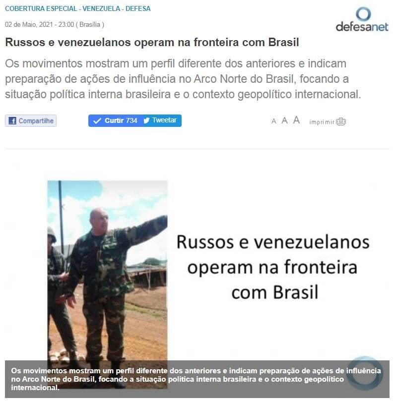 Die brasilianische Ausgabe beschuldigt die GRU der Russischen Föderation der Cybersabotage aus Venezuela