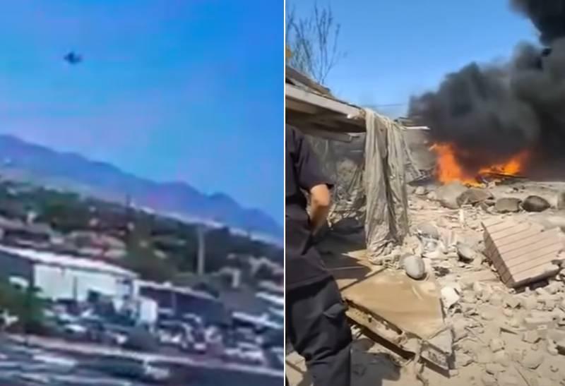 Имитировавший противника ВВС США истребитель упал на жилой квартал в штате Невада