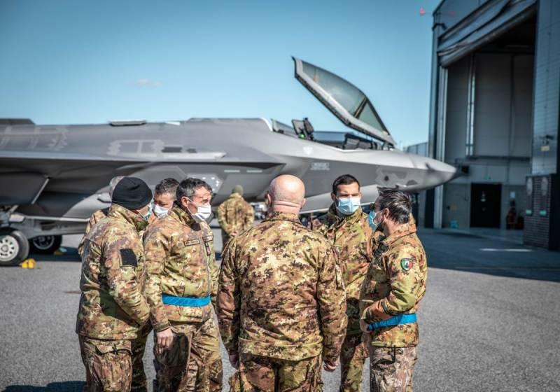 Истребители F-35 ВВС Италии официально заступили на охрану воздушного пространства стран Балтии