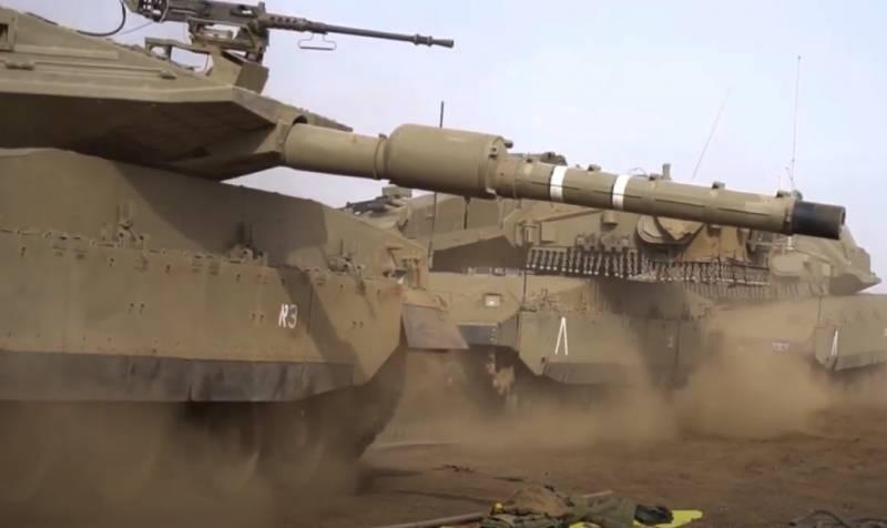 Израильская армия против сектора Газа решила задействовать танки Merkava