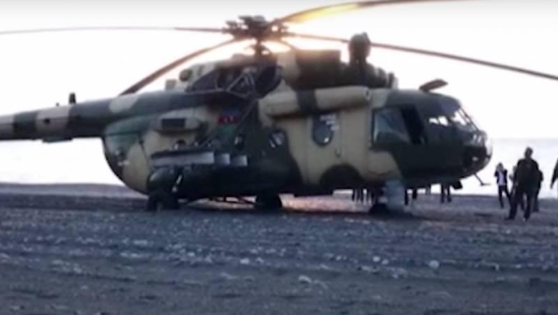 Вынужденная посадка на турецкий пляж вертолёта Ми-17 попала на видео