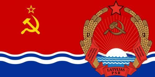 drapeau de la RSS de Lettonie