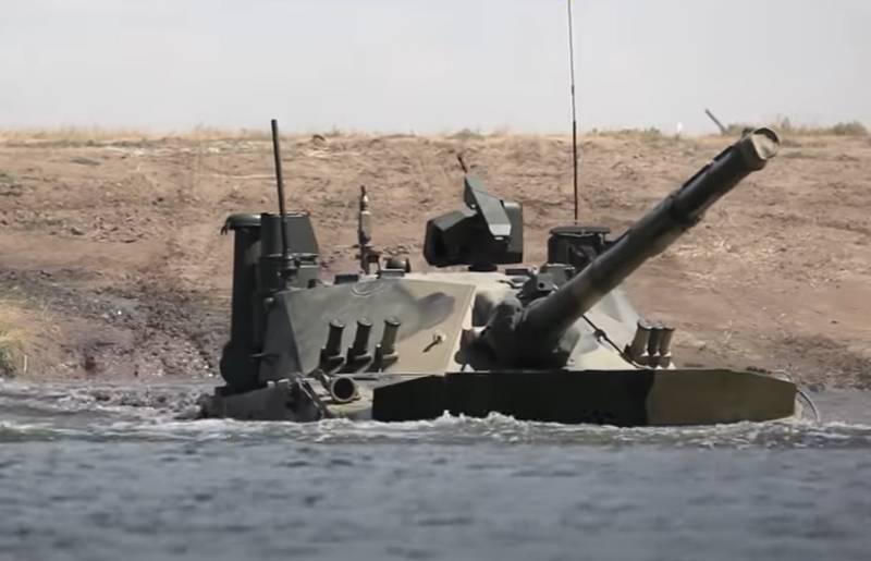 """印度媒体:新德里正在考虑从俄罗斯购买""""轻型坦克""""""""Sprut-SDM1"""""""