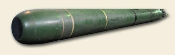 """""""Ictiossauro"""" para predadores subaquáticos. Torpedo promissor UET-1"""