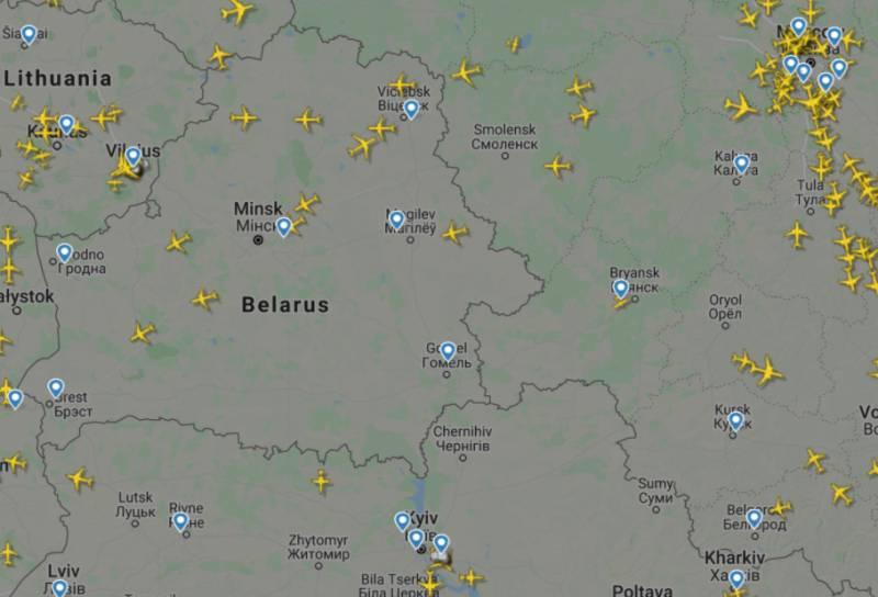 Воздушное пространство Белоруссии не стало «белым пятном» на карте авиаперевозок