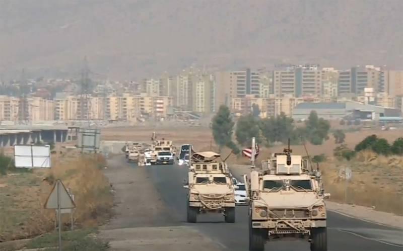 Российские военные остановили продвижение американской колонны в Сирии