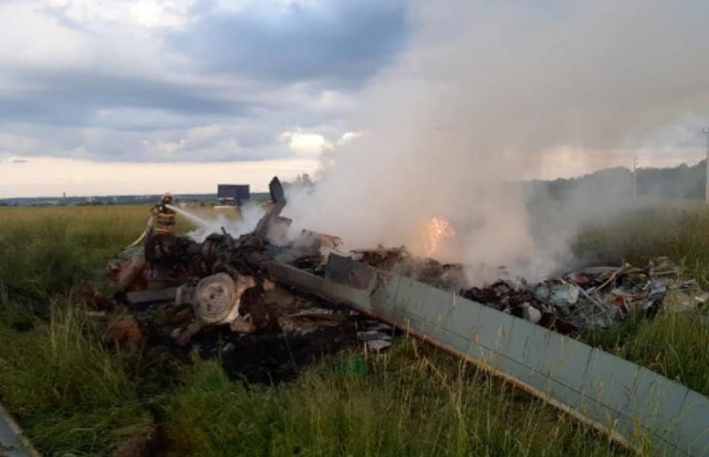 Вертолёт Ми-8 Росгвардии потерпел крушение в Ленинградской области