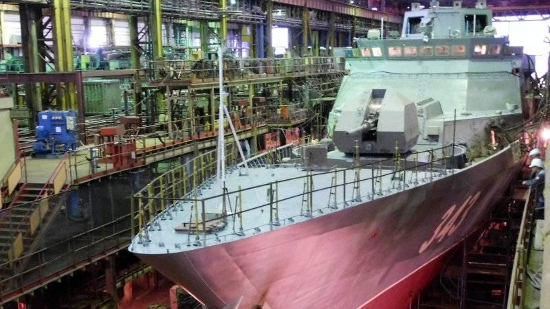 Амурский судостроительный завод спустил на воду корвет «Резкий» проекта 20380