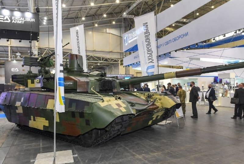 Украинскому производителю заплатили за аренду танка БМ «Оплот», чтобы показать его на выставке