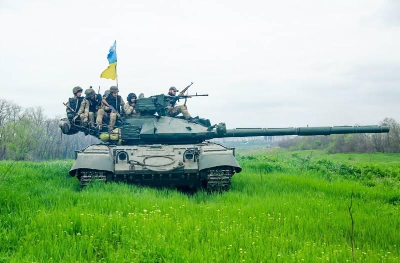 Соответствие стандартам НАТО: украинский танк по ошибке обстрелял населенный пункт