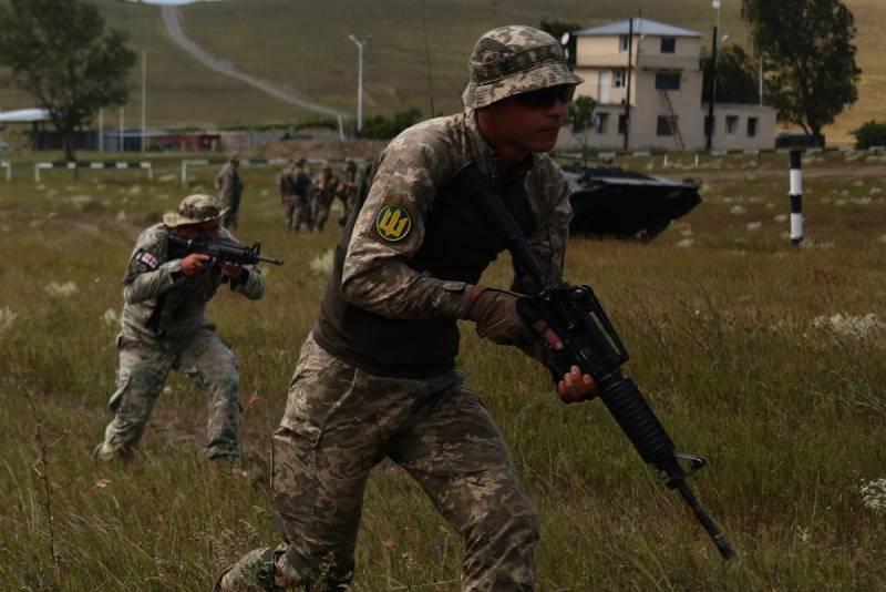 Морпехи ВСУ отработали контратаку под прикрытием грузинской бронетехники