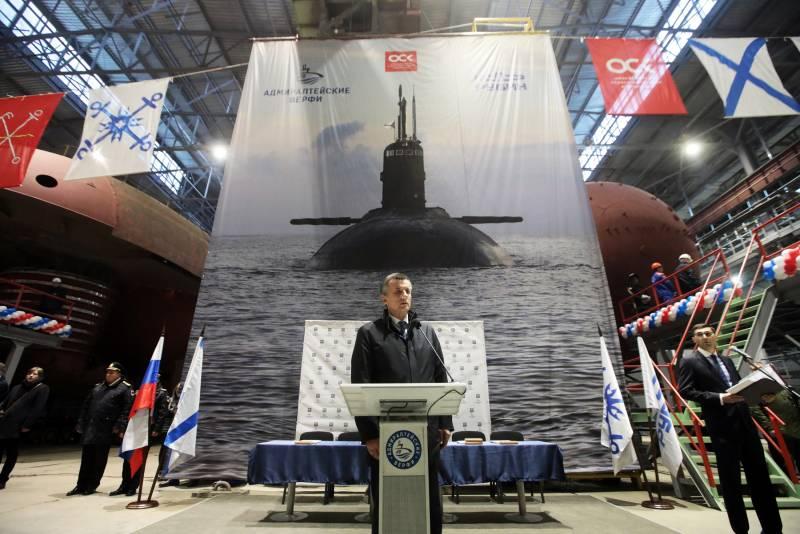 Названа предварительная дата единовременной закладки нескольких кораблей и подводных лодок для ВМФ РФ