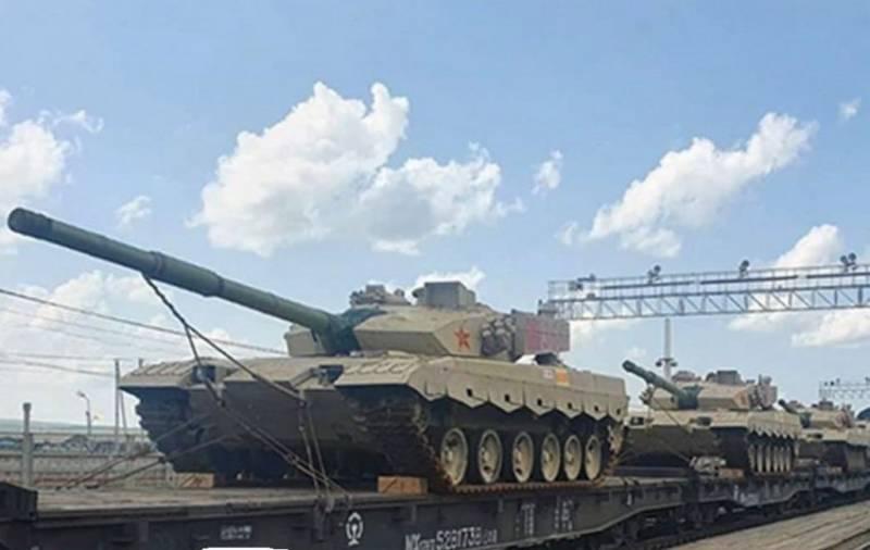 Китайские танки Тип 96В отправлены в Россию для участия в «Танковом биатлоне»