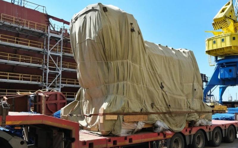 ОДК поставила «Северной Верфи» дизель-газотурбинный агрегат М55Р для фрегата «Адмирал Исаков»