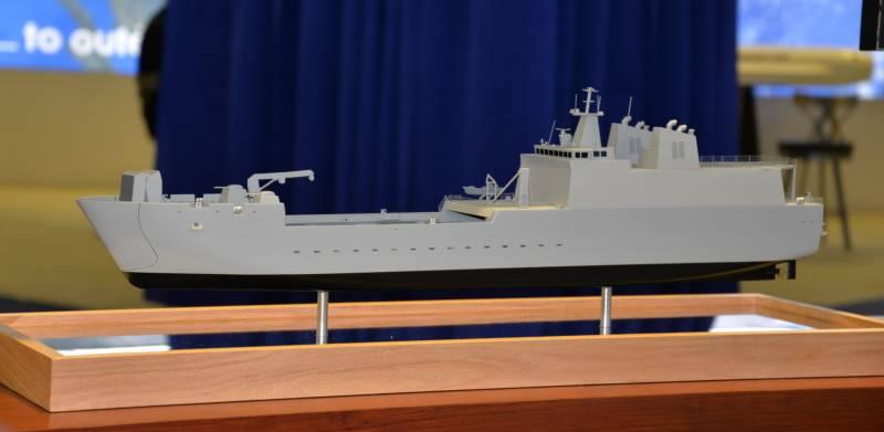 Программа разработки десантного корабля LAW. Первые варианты и перспективы