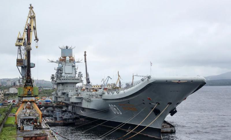 Работы по докованию авианесущего крейсера «Адмирал Кузнецов» сдвигаются на год