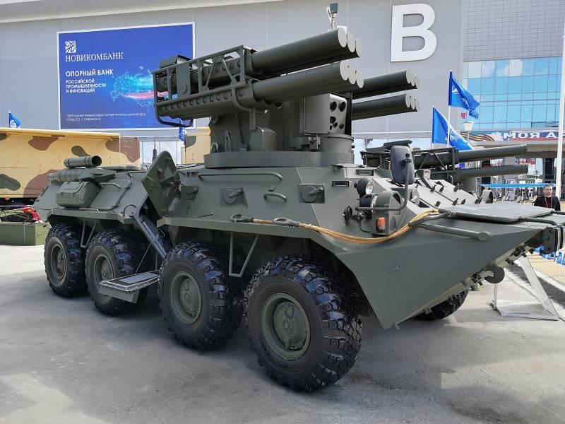 Колесный вариант ЗРК «Сосна»