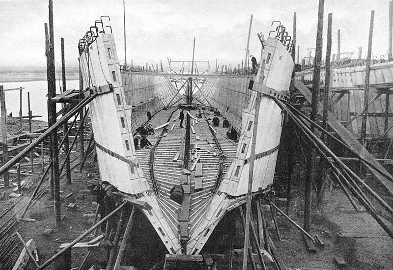 Beton gemiler. Gemi yapımında alışılmadık bir deney