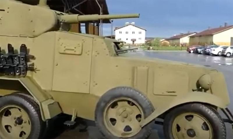 Советский бронеавтомобиль БА-10 с 45-мм «танковой» пушкой