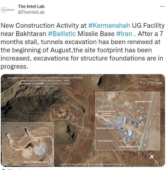 Иран строит новый ракетный объект: утверждения и кадры от разведывательной компании