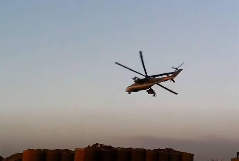В Сирии заявили об обстреле российских вертолётов протурецкими боевиками в провинции Хасеке