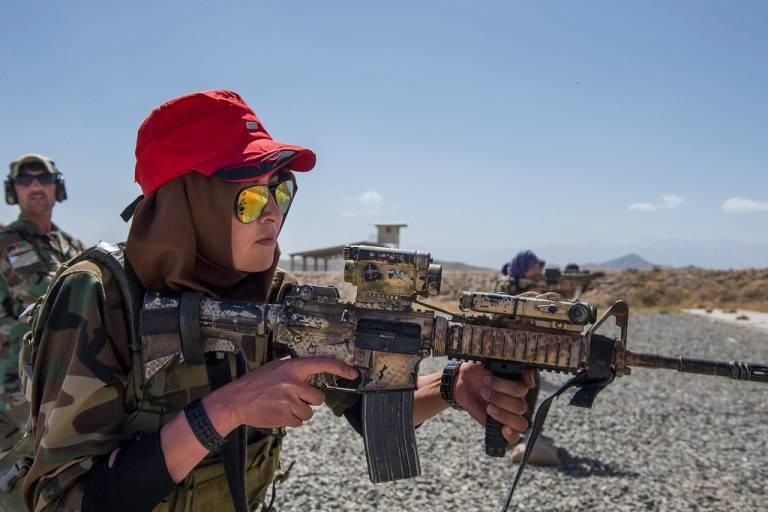 Женский спецназ афганской армии
