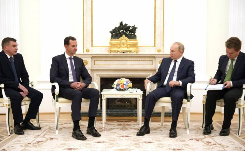 Путин в беседе с Асадом указал на основную проблему Сирии на сегодняшний день