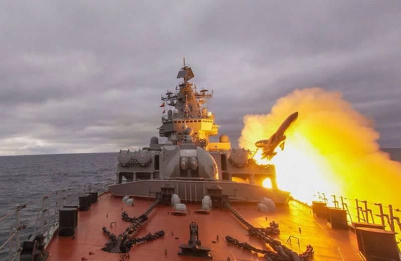 В Сети появилось видео ракетных стрельб крейсера «Маршал Устинов»
